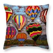 Balloon Family Throw Pillow