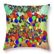 Balloons Everywhere Throw Pillow