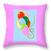 Balloons Of Loose Colors Throw Pillow