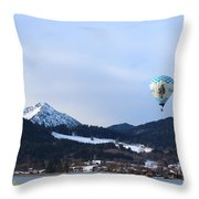 Balloons Over Tegernsee Throw Pillow