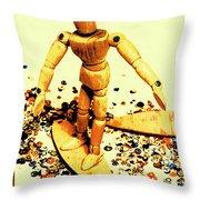 Balsa Boarder 1970 Throw Pillow