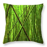 Bamboo X Throw Pillow