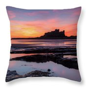 Bamburgh Castle Bam0032 Throw Pillow