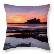 Bamburgh Castle Bam0032 Throw Pillow