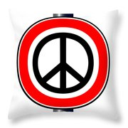 Ban The Bomb Road Sign Throw Pillow