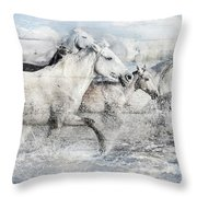 Band Of Brothers Throw Pillow by Debra and Dave Vanderlaan