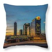 Banking Giants Too Atlanta Midtown Sunset Atlanta Georgia Art Throw Pillow