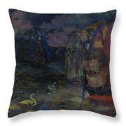 Baranoff-rossine Vladimir  1888-1944  Fairy Lake Throw Pillow