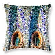 Barcelona Mosaic  Throw Pillow
