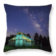 Barn In Rocky 2 Throw Pillow by Gary Lengyel