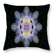 Baroque Fantasy Flowers Ornate Throw Pillow