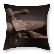 Barrel Tap With Corks Throw Pillow