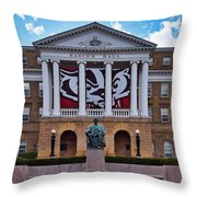 Bascom Hall - Madison - Wisconsin Throw Pillow