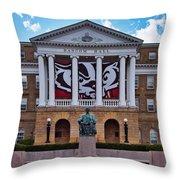 Bascom Hall - Madison - Wisconsin Throw Pillow