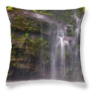 Base Of Waimoku Falls Throw Pillow