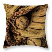 Baseball Mug Throw Pillow