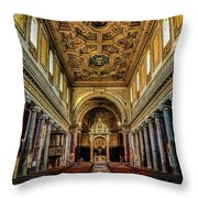 Basilica Di San Crisogono Throw Pillow