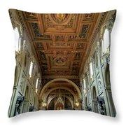 Basilica Di San Giovanni In Laterano Throw Pillow
