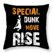 Basketball Sports Player Special Dunk Move Rise Gift Idea Throw Pillow
