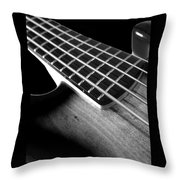 Bass Guitar Musician Player Metal Rock Body Throw Pillow