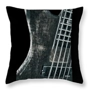 Bass Guitar Musician Player Metal Rock Throw Pillow