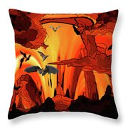 Bat Out Of Throw Pillow