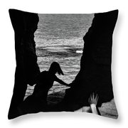 Scene With A Jumping Thing Throw Pillow