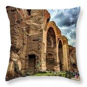 Baths Of Caracalla Throw Pillow