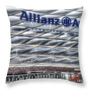 Allianz Arena Bayern Munich  Throw Pillow