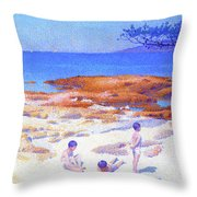 Beach At Cabasson - Digital Remastered Edition Throw Pillow