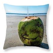 Beach Coconut Throw Pillow