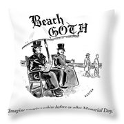 Beach Goth Throw Pillow