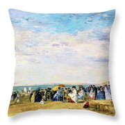 Beach Of Trouville - Digital Remastered Edition Throw Pillow