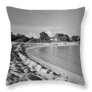 Beach Sand Cove Throw Pillow