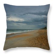 Beach Skies Clearing Throw Pillow