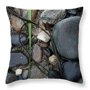 Beach Kanji Throw Pillow