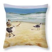 Beach Stroll Throw Pillow
