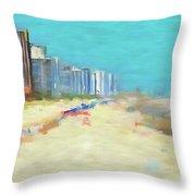 Beach Vacation Throw Pillow