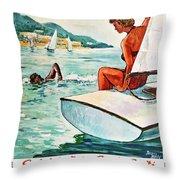 Beaches In Algeria Throw Pillow