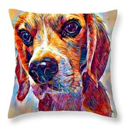 Beagle 3 Throw Pillow