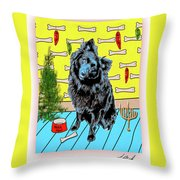 Bear Paw Holiday Throw Pillow by Lou Novick