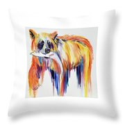 Bear Snack Throw Pillow
