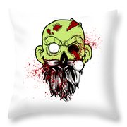 Bearded Zombie Undead With Beard Halloween Party Light Throw Pillow