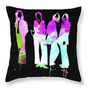 Beatles Watercolor II Throw Pillow