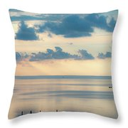 Beautiful Clouds Over Pamlico Sound Throw Pillow