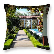 Beautiful Courtyard Getty Villa  Throw Pillow