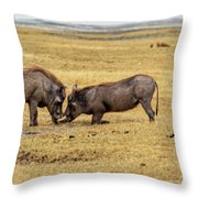 Beauty On The Hoof, The Warthog Throw Pillow