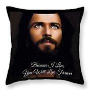 Because I Live Throw Pillow