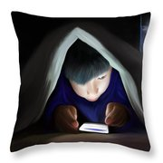 Bedtime Story Throw Pillow by Mark Taylor