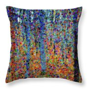 Beech Grove Abstract Expressionism Throw Pillow